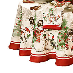 Snowman Winterland Holiday 70-Inch Round Tablecloth