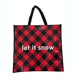 Let It Snow Large Reusable Shopping Bag