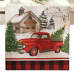 Vintage Christmas Tree Farm 70-Inch Table Runner