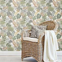 RoomMates® Palm Frond Toss Peel & Stick Wallpaper in Green/Orange