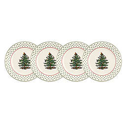 Spode® Christmas Tree Polka Dots Dessert Plates in Green (Set of 4)