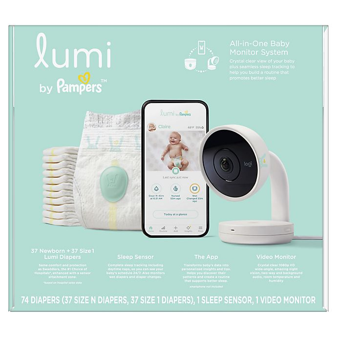 Alternate image 1 for Lumi by Pampers™ Smart Video Baby Monitor plus Sleep System all-in-one Bundle