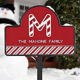 Candy Cane Lane Magnetic Garden Sign