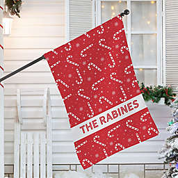 Candy Cane Lane House Flag in Red