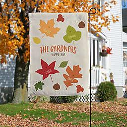 Fall Family Leaf Character Garden Flag