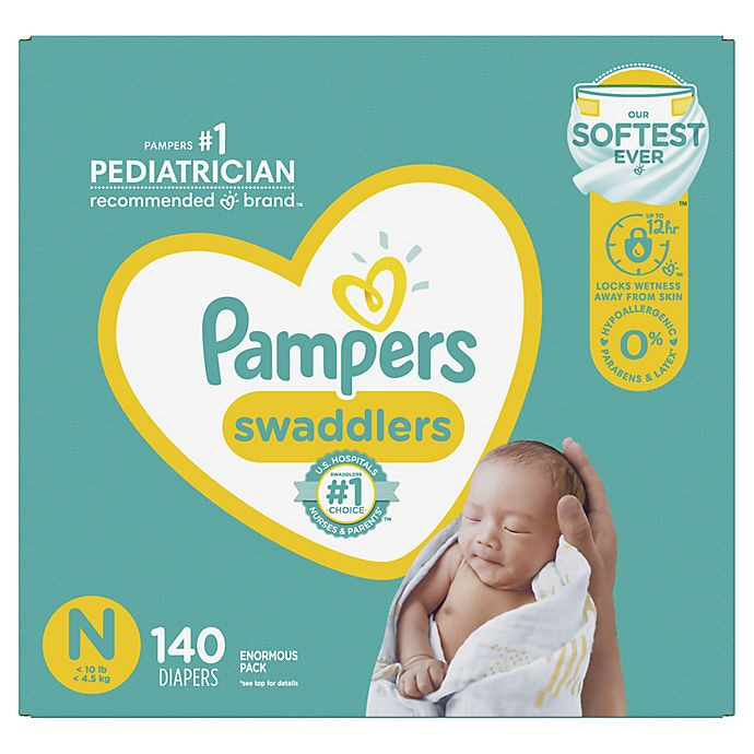 Alternate image 1 for Pampers® Swaddlers™ Newborn 198-Count Disposable Diapers