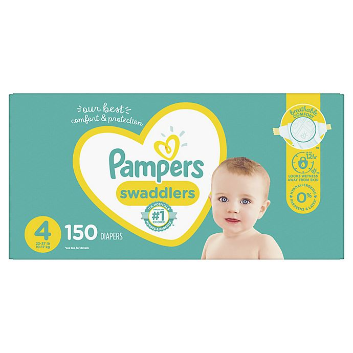 Alternate image 1 for Pampers® Swaddlers™ 150-Count Size 4 Pack Diapers