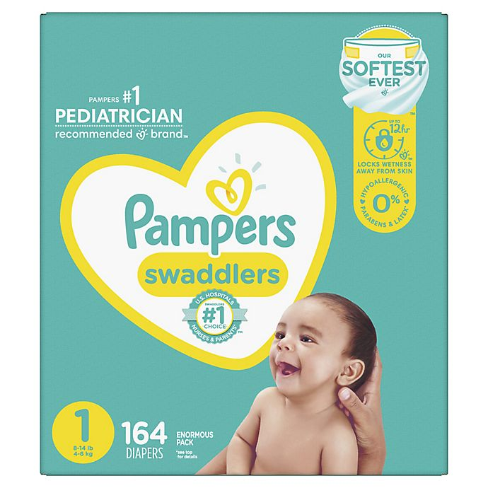 Alternate image 1 for Pampers® Swaddlers™ 164-Count Size 1 Pack Diapers