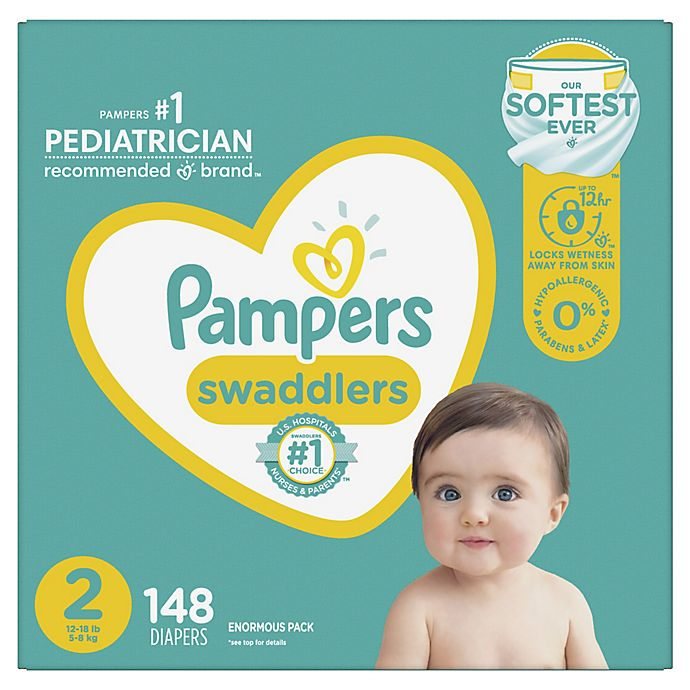 Alternate image 1 for Pampers® Swaddlers™ 148-Count Size 2 Pack Diapers