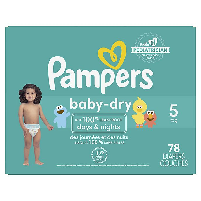 Alternate image 1 for Pampers® Baby-Dry Disposable Diapers
