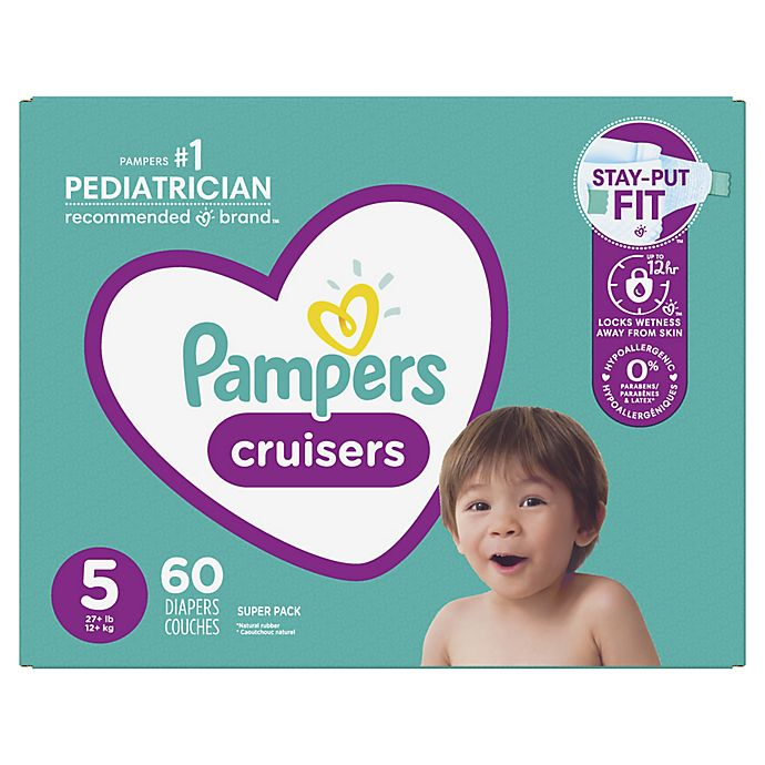 Alternate image 1 for Pampers® Cruisers™ Size 5 60-Count Disposable Diapers