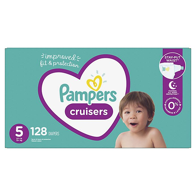 Alternate image 1 for Pampers® Cruisers™ Size 5 128-Count Disposable Diapers