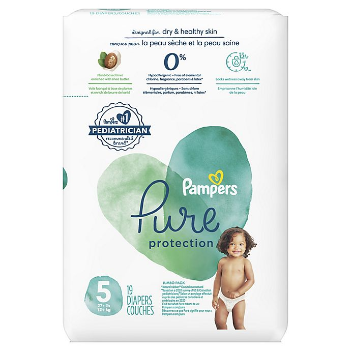 Alternate image 1 for Pampers® Pure Protection 20-Count Size 5 Disposable Pack Diapers