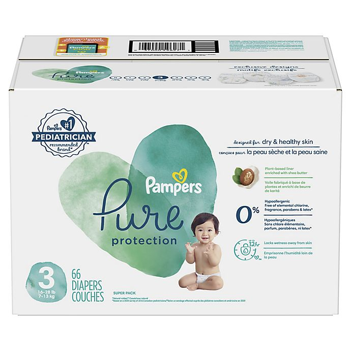 Alternate image 1 for Pampers® Pure Protection Size 3 66-Count Disposable Diapers
