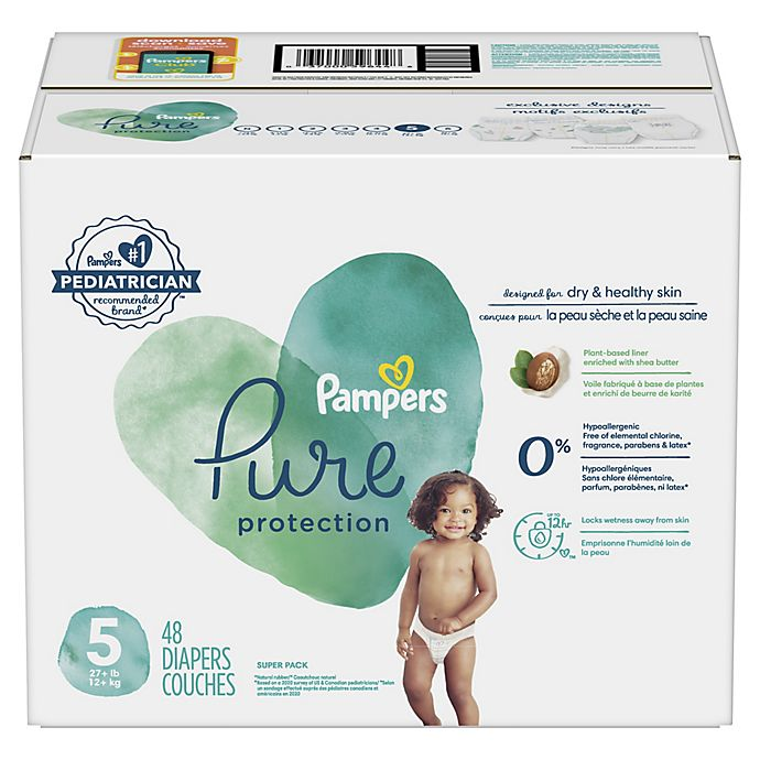 Alternate image 1 for Pampers® Pure Protection 48-Count Size 5 Pack Diapers