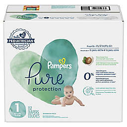 Pampers® Pure Protection 132-Count Size 1 Enormous Pack Disposable Pampers