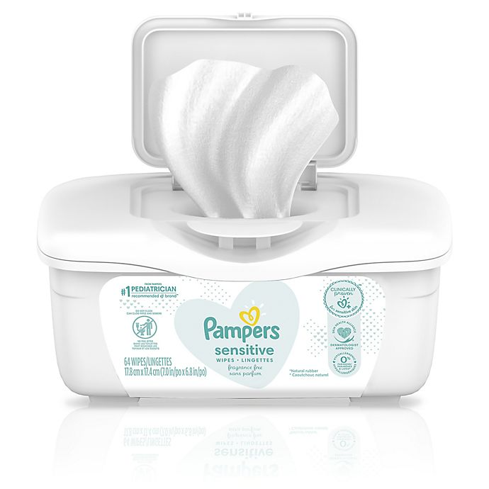 Alternate image 1 for Pampers® 64-Count Sensitive Wipes