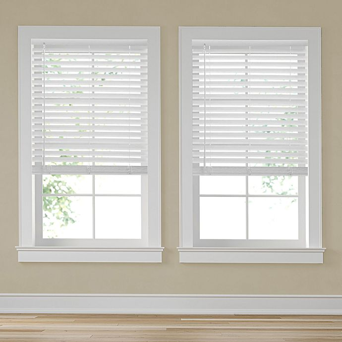 Alternate image 1 for Simply Essential™ Room Darkening Cordless Faux Wood Blind