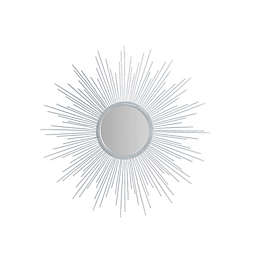 Madison Park Fiore 29.5-Inch Round Sunburst Wall Mirror in Silver