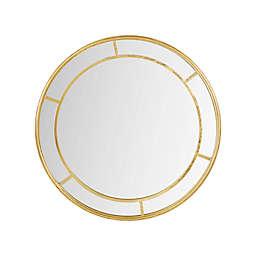 Martha Stewart Katonah 36-Inch Round Accent Mirror in Gold