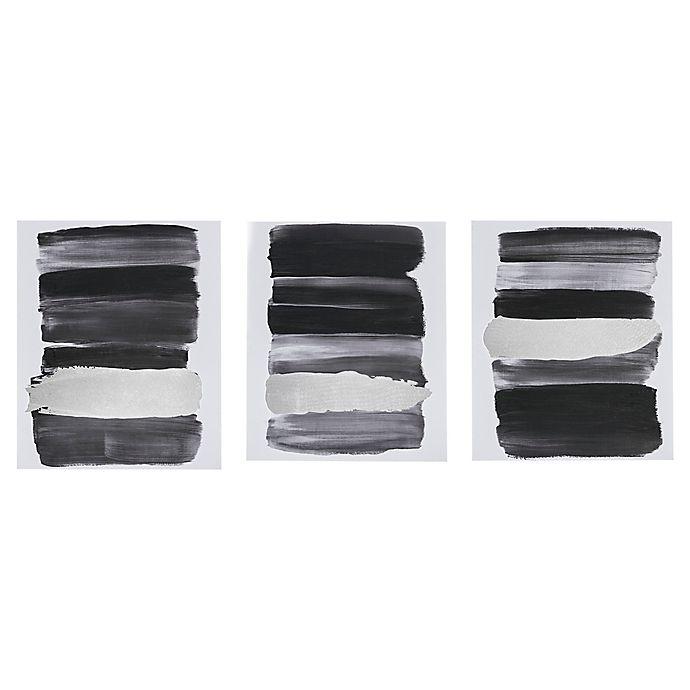 Alternate image 1 for Urban Habitat Traveling Road Printed Canvas Wall Art in Black (Set of 3)