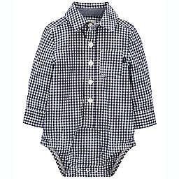 OshKosh B'gosh® Size 3M Gingham Button-Front Bodysuit