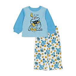 Sesame Street® Size 2T 2-Piece Cookie Monster Fleece Pajama Set