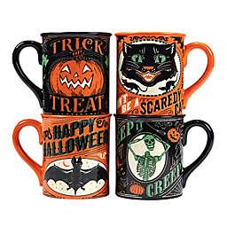 Certified International Scaredy Cat 4-Piece Mug Set<br />