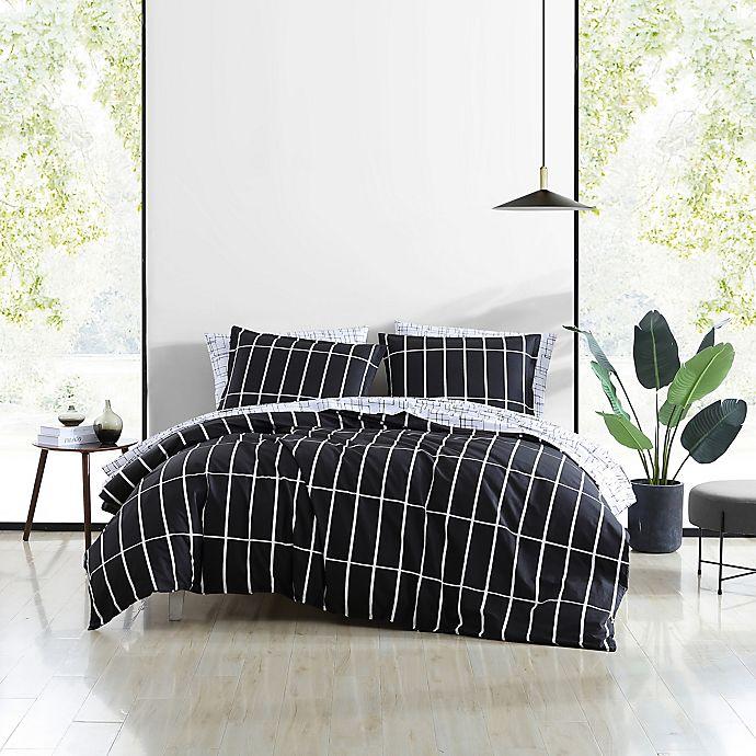Alternate image 1 for Marimekko® Tiiliskivi Duvet Cover Set in Black