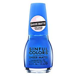 SinfulColors® Sheer Matte Nail Polish in Kiss of Cobalt