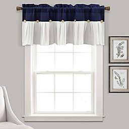 Lush Decor Linen Button Window Valance