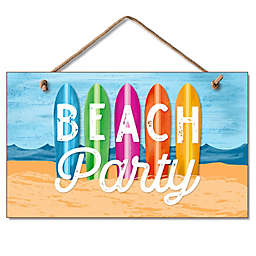 Highland Woodcrafters Beach Party 9.5-Inch x 5.8-Inch Wall Sign