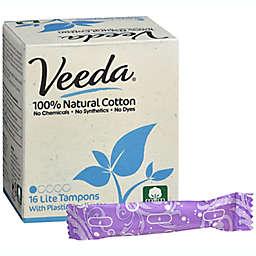 Veeda® 16-Count Natural Cotton Lite Tampons