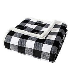 Eddie Bauer® Cabin Plaid Ultra Soft Plush Fleece Reversible Twin Blanket in Charcoal Plaid