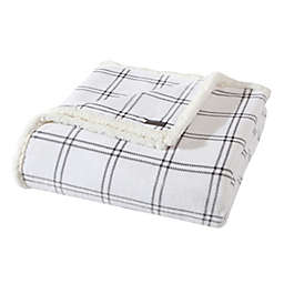 Eddie Bauer® Kettle Falls Ultra Soft Plush Fleece Reversible King Blanket in Grey