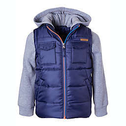 iXtreme Puffer Vest with Fleece Hood and Matching Sleeves