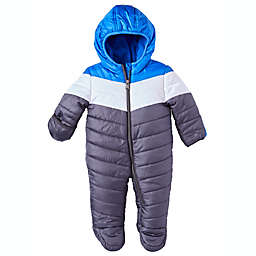 Perry Ellis® Quilted Colorblock Hooded Pram in Charcoal/Blue