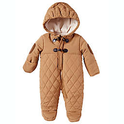 Perry Ellis® Size 6-9M Hooded Quilted Toggle Pram in Brown