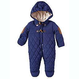 Perry Ellis® Size 3-6M Hooded Quilted Toggle Pram in Navy
