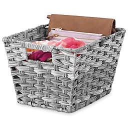 Whitmor Split Rattique® Tote Basket in Grey