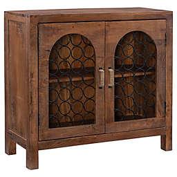 Powell Medinah 2-Door Console Cabinet in Brown