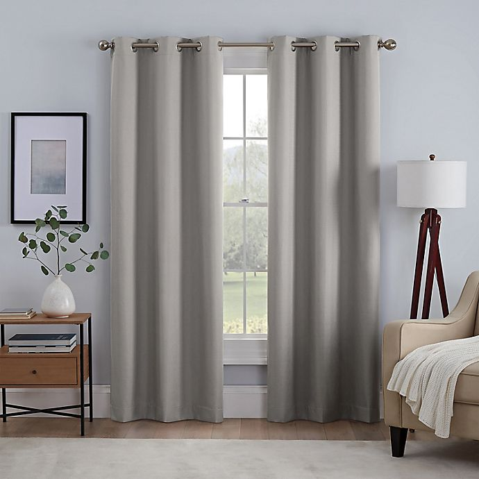 Alternate image 1 for Eclipse® Kylie Absolute Zero Grommet 100% Blackout Window Curtain Panels (Set of 2)