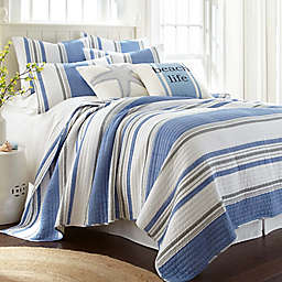Levtex Home Cyra Reversible Quilt Set in Blue
