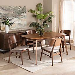 Baxton Studio Bjorn 5-Piece Dining Set in Grey