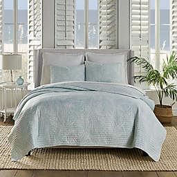 Fern 3-Piece Reversible Quilt Set in Spa