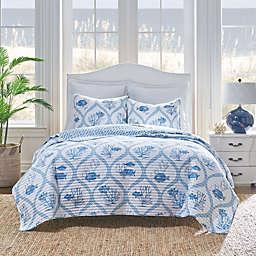 Levtex Home Madeira Shore Reversible Quilt Set in Blue
