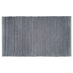 """Bee & Willow™ 21"""" x 34"""" Harvest Braid Bath Rug in Quarry"""
