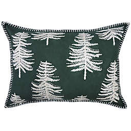 Bee & Willow™ Embroidered Christmas Tree Oblong Throw Pillow in Green