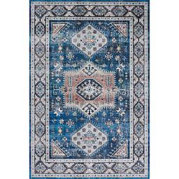 "Novogratz by Momeni Doheny Lloyd 7'6"" X 9'6"" Area Rug in Blue"