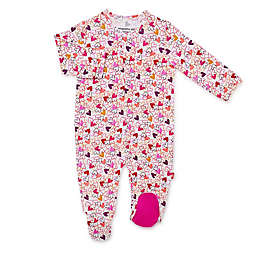 Magnetic Me® by Magnificent Baby Preemie Heart to Heart Footie in Pink/Purple